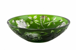 Lead Crystal Bowl Rose