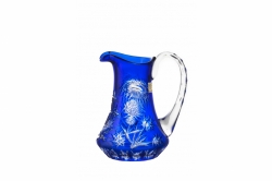 Lead Crystal Jug Thistle