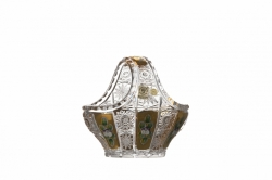Lead Crystal Basket 500K Gold
