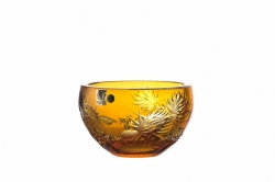 Lead Crystal Bowl Thistle