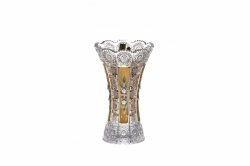 Lead Crystal Vase 500K Gold